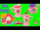 Frozen Queen Elsa Anna Have Play-Doh Disney Princess Tea Cookie Party - Video Cookieswirlc