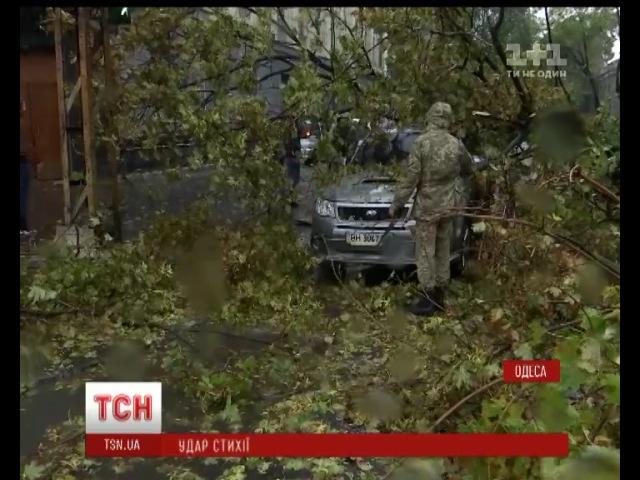 Двоє загиблих, 5 травмованих, повалені дерева та крани Одеса страждає від шторму