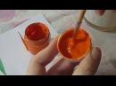 Подготовка красок гуашь темпера для росписи городецкая и Хохломская по дереву