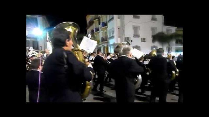 Pasacalles banda municipal de musica, Los Moraos ALHAURIN de la TORRE 2017, 13/04