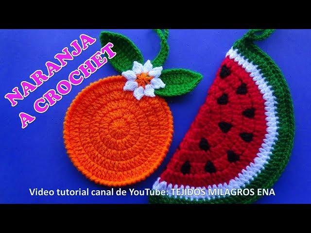MANUALIDADES A CROCHET PARA VENDER naranjas tejidas para agarraderas de ollas paso a paso