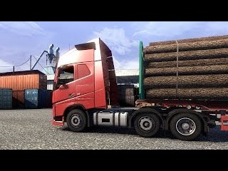 Euro Truck Simulator 2 - The New Volvo FH Series 6x2 Transporting 16 Tons of Logs Part 1