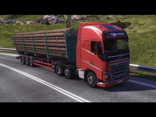 Euro Truck Simulator 2 - The New Volvo FH Series 6x2 Transporting 16 Tons of Logs Part 2