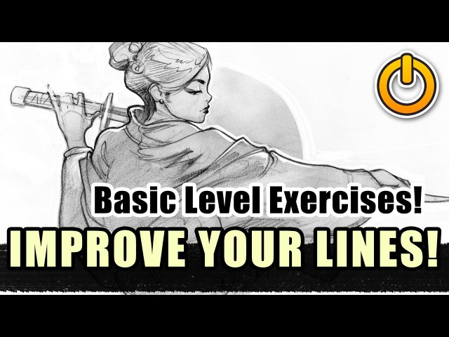Improve your Line Drawing Basic beginner LVL exercises