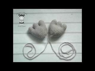 Как соединить пальцы лапки вязаной игрушки