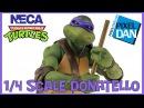 Donatello NECA Toys Teenage Mutant Ninja Turtles Movie 1/4 Scale Figure Video Review