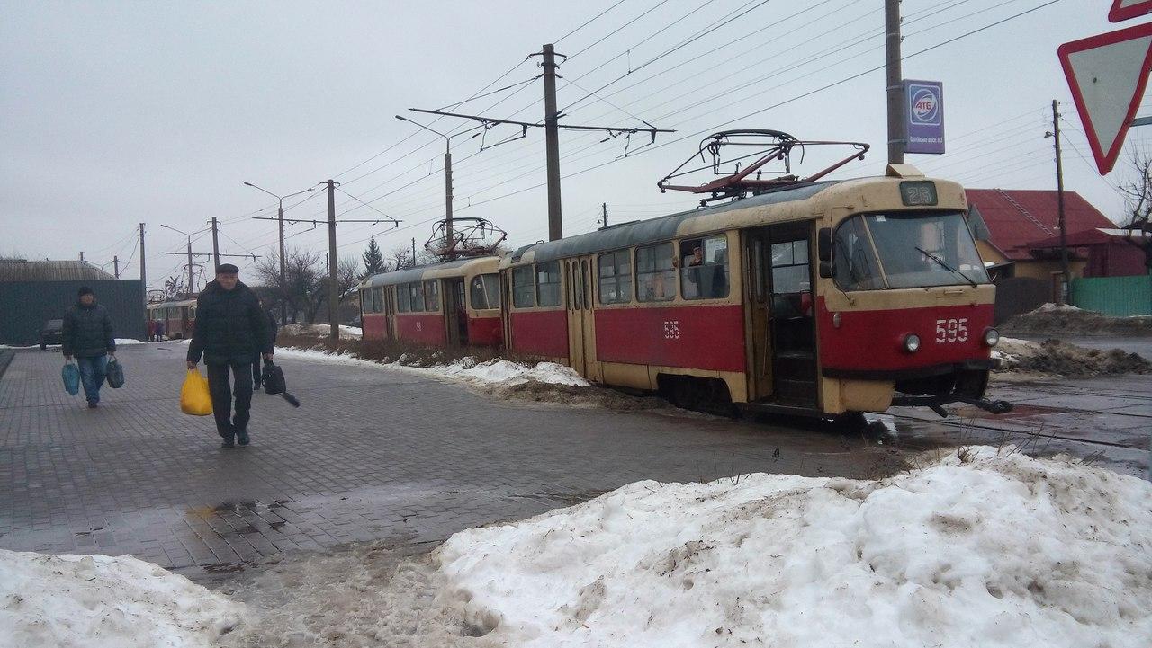 В Харькове горел трамвай - соцсети
