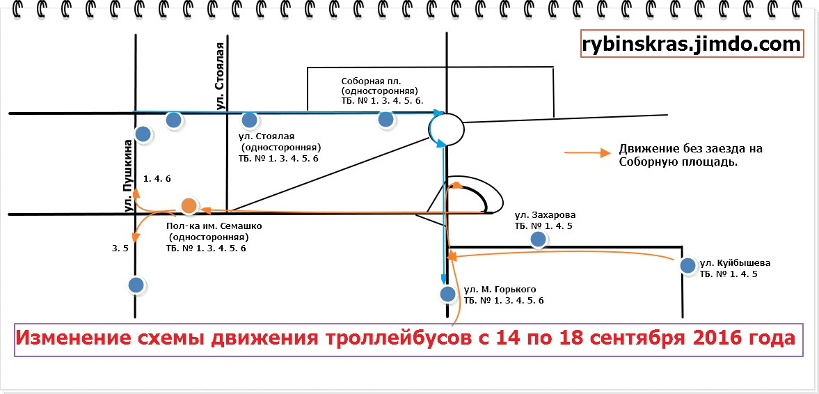 Схема объезда.