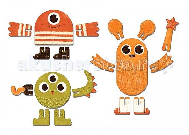 Конструктор Игрушки из картона: 3D пазл Монстры, Krooom