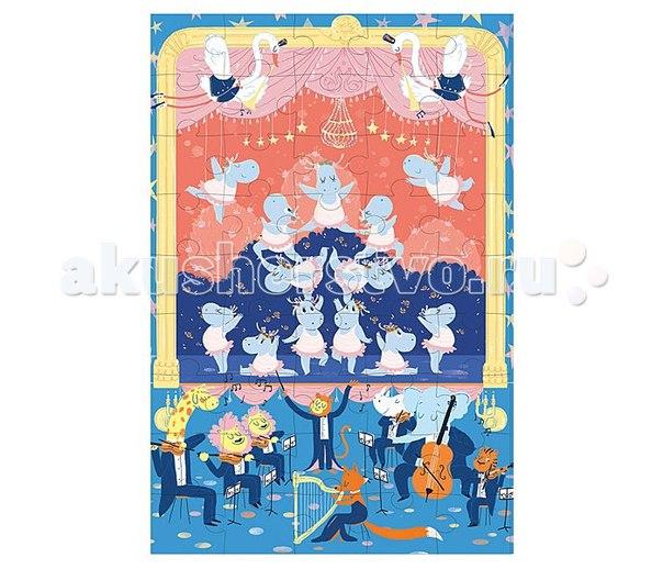 Игрушки из картона: пазл балерина, Krooom