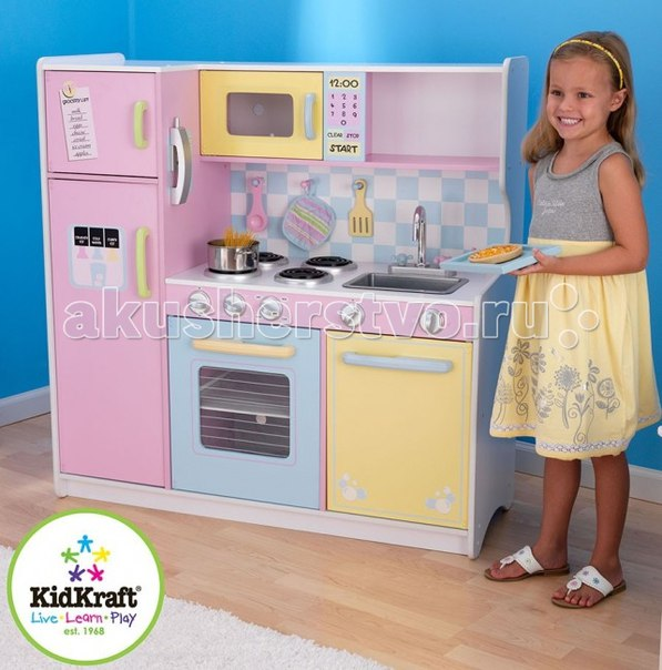 Игрушечная кухня пастель, KidKraft