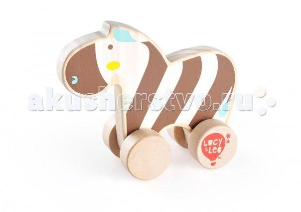 Каталка-игрушка Каталка Зебра LL118, Lucy & Leo