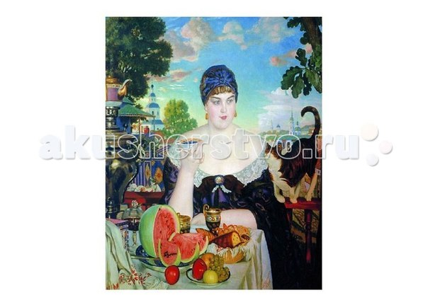 Картина по номерам б.кустодиев купчиха за чаем, Molly