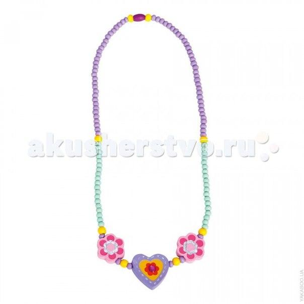 Бусы фиолетовое сердце 9989033, Bino