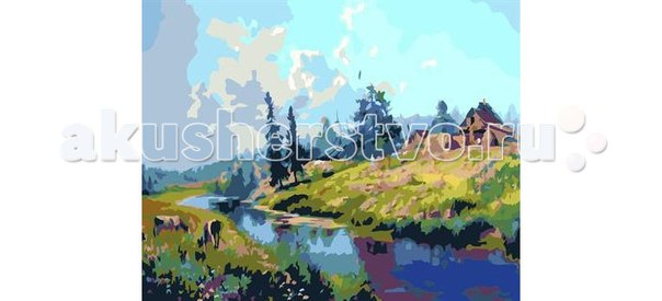 Картина по номерам дом на берегу реки, Molly