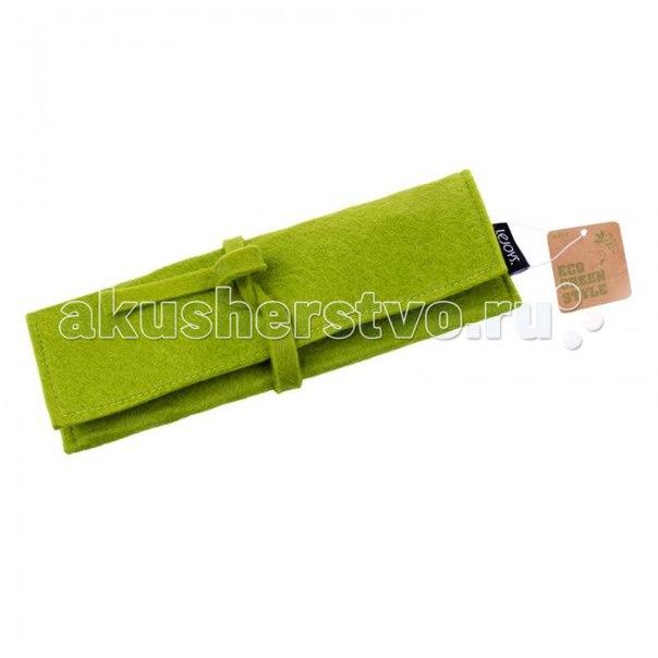 Пенал felt для хранения письменных принадлежностей на завязке зеленый, Lejoys