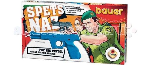 Игрушка пистолет спецназ с тремя стрелами, Bauer