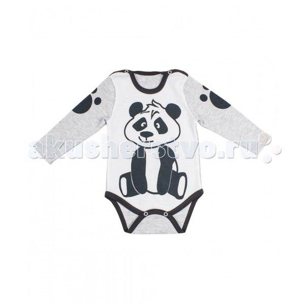 Боди длинный рукав панда, Апрель
