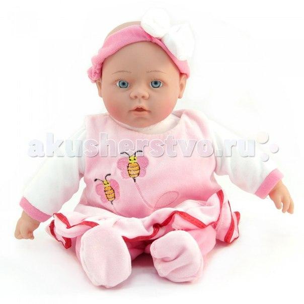 Кукла интерактивная в розовом платье 40 см, Lisa Jane