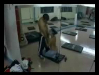 Hidden camera records arab couple having sex in the gym