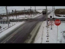 Авария на жд переезде в Казахстан