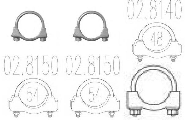 Соединительные элементы, система выпуска для ALFA ROMEO ALFETTA GT (116)