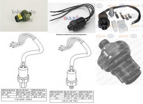 Пневматический выключатель, кондиционер для ALFA ROMEO RZ