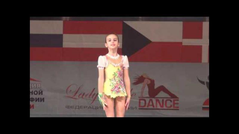 00279 БТО 2015. European Championship. Acrobatic Dance. Дети, соло девочки, 1/2 финала