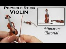 DIY Miniature Violin (made with popsicle sticks!)