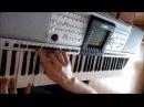 В.Цой и гр.Кино - Звезда по имени Солнце на синтезаторе Yamaha PSR-3000.