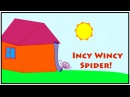 INCY WINCY SPIDER English Nursery Rhymes Music Songs for Children Toddlers ABC 123