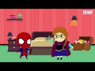 Phim hoạt hình Frozen Elsa and Spiderman Cùng nhau dọn dẹp nhà cửa Baby Toys Videos