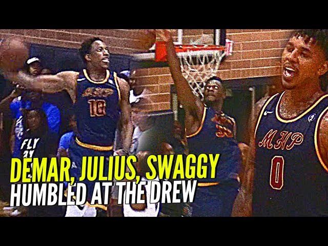 DeMar DeRozan, Nick Young Julius Randle HUMBLED By Random Drew League Players! Still Get The W Tho