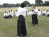 1989 UKA Summer School - T.K. Chiba Sensei Jyo Basics from Kesa - Kaiten Uchiotoshi