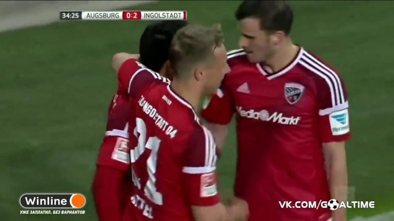 ГолТВ рф Аугсбург Ингольштадт 2 3 Обзор матча Германия Бундеслига