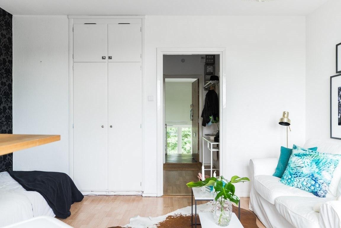 Интерьер квартиры-студии 22,6 м.