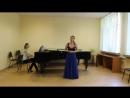 Концертная ария В.А.Моцарта Vado ma dove, С.В. Рахманинов Полюбила я на печаль свою. Экзамен по вокалу в МПГУ.