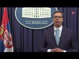 Президент Сербии Александр Вучич поздравляет россиян с Днем Победы