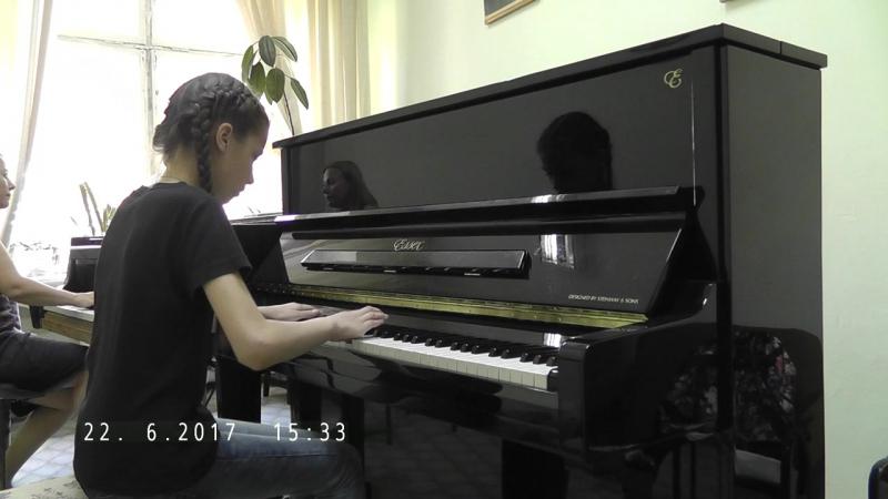 Шиляева Катя Бах Концерт фа-минор 1 часть