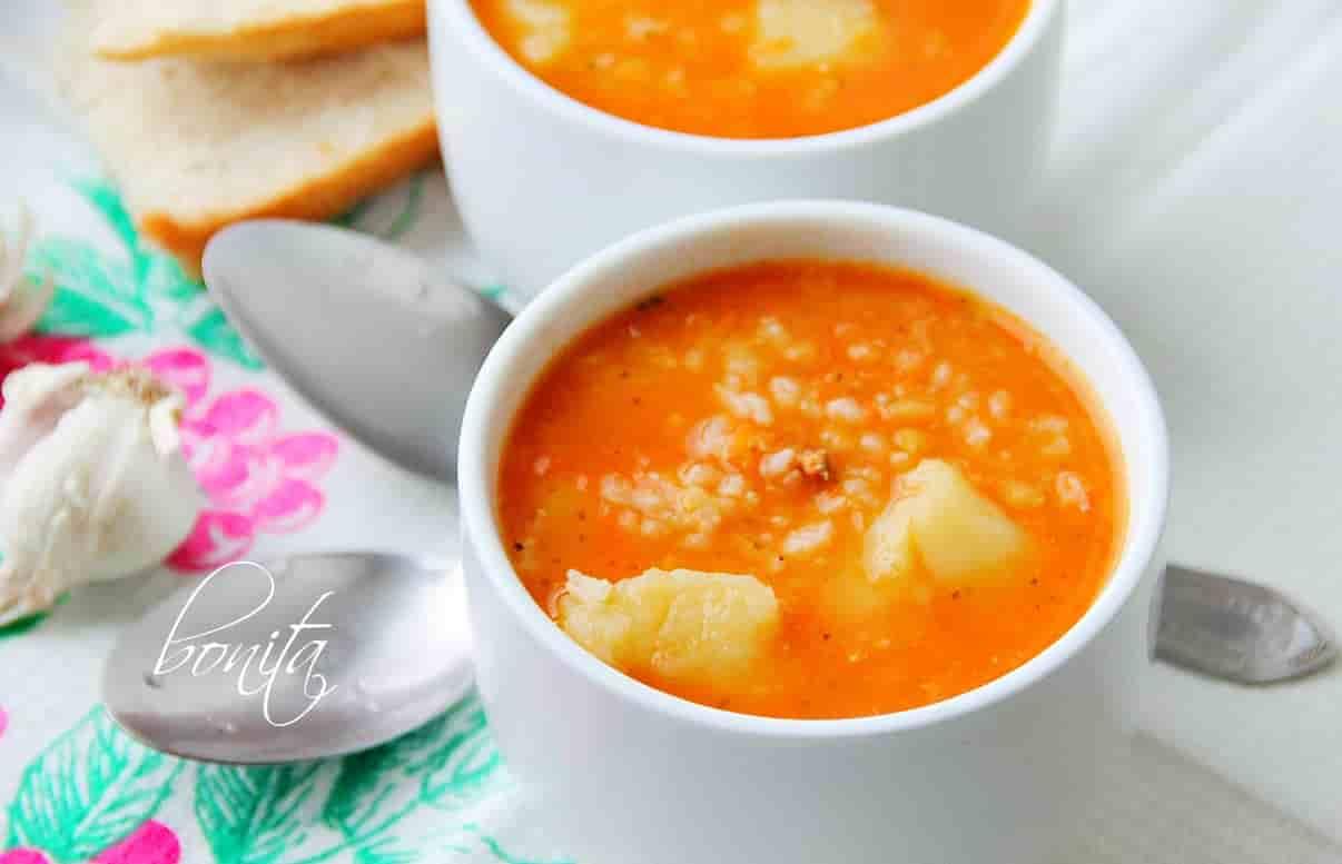 Суп с чечевицей и рисом