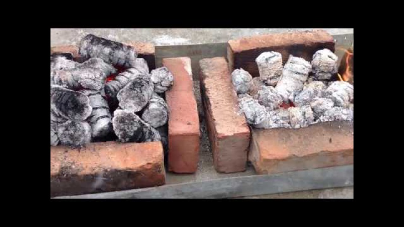 Тест топливных брикетов из лузги подсолнуха и риса