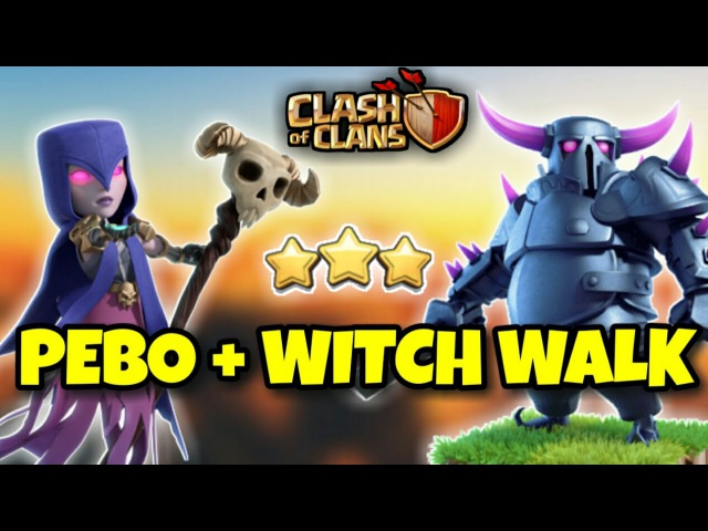 PEBO MASS WITCH WALK | Th9 New 3 STARS WAR ATTACK STRATEGY | Clash Of Clans