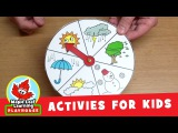 Weather Wheel Activity for Kids Maple Leaf Learning Playhouse