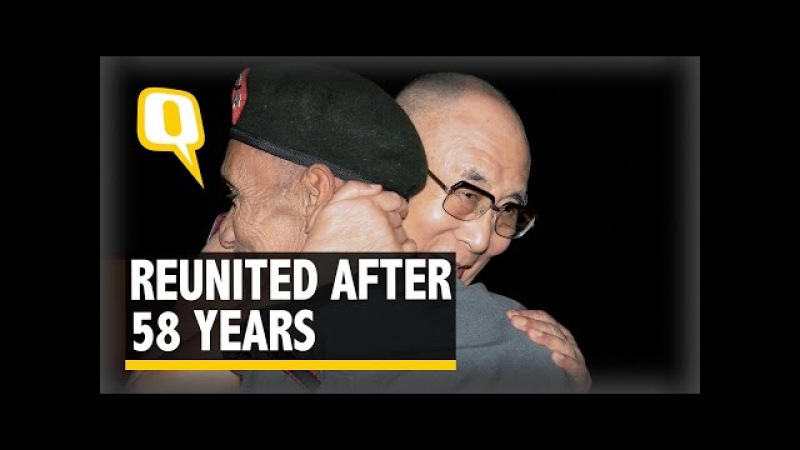The Quint: The Dalai Lama Embraces Jawan Who Escorted Him Into India in 1959