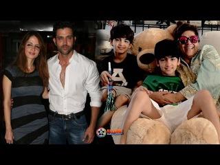 Actor Hrithik Roshan Family Photos with Wife, Sons Hrehaan & Hridhaan