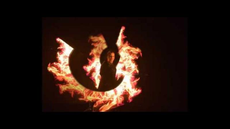 Световое шоу Дрессировщица огня