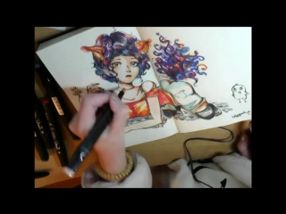 Speed Paint by MaggyRi №2 #ink #pencil #markers