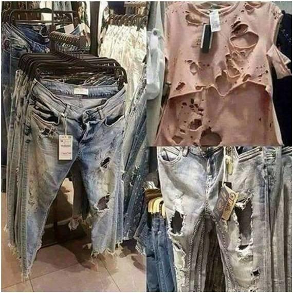 Почему нельзя носить одежду с дырками