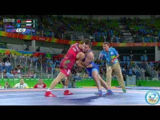 РИО-2016 греко-римская борьба 85 кг 1_2 финала Виктор Лёринц (Венгрия) - Давит Чакветадзе (Россия)