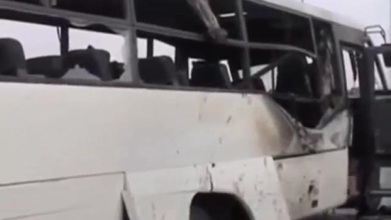 расстрелянный бармалеями автобус коптов.Египет.26,5,2017